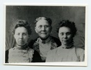 "Original title:  Margaret Addison with her family. Inscription on back of photograph reads ""Left to Right: Margaret Addison, Mary Ann Addison, her mother, Charlotte Addison, her sister."" Image courtesy of Victoria University Archives (Toronto, Ont.)."