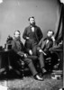 Original title:  L. to R.: James Findlay, M.P. (Renfrew North, Ont.), George William Ross, M.P. (Midlessex West Ont.) and William Paterson, (Brant South, Ont.) b. Sept. 18, 1841 - d. Mar. 7, 1914.