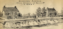 Titre original :  Spadina Avenue, between Baldwin and Nassau Streets (Toronto), 1864; Author: Thomson, William James (1858-1927); Author: Year/Format: 1896, Picture