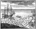 Titre original :  Landing of Iberville's Men at Port Nelson. (From an old print.)
