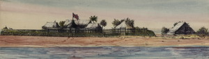 Titre original :  Tent of Capt. James Cook, Matavai Bay, Tahiti, 1769; Author: Unknown; Author: Year/Format: 1890, Picture