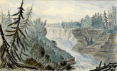 Titre original :  Kakabeka Falls, Kaministiquia River; Author: FLEMING, JOHN ARNOT (1835-1876); Author: Year/Format: 1857, Picture