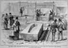 Titre original :  The stone coffin prepared for the burial of Joseph Guibord..