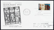 Titre original :  Jeanne Mance [philatelic record].  Philatelic issue data Canada : 8 cents