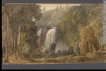 Titre original :  Painting View of the Falls of Montmorency George Heriot 1816, 19th century Watercolour and graphite on paper 11.4 x 19.3 cm Gift of Mrs. J. C. A. Heriot M928.92.1.101 © McCord Museum Keywords:  Painting (2229) , painting (2226) , waterfall (388) , Waterscape (2986)