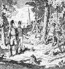 Titre original :    Description John Graves Simcoe and Augustus Jones, supervising the Queen's Rangers of York cutting trees during the construction of Yonge Street, 1795 Date 1795 (scene depicted) Source This image is available from Library and Archives Canada under the reproduction reference number C-073665 and under the MIKAN ID number 2835216 This tag does not indicate the copyright status of the attached work. A normal copyright tag is still required. See Commons:Licensing for more information. Library and Archives Canada does not allow free use of its copyrighted works. See Category:Images from Library and Archives Canada. Author Charles William Jefferys (1869–1951) Alternative names C. W. Jefferys Description Canadian painter, illustrator, author and teacher Date of birth/death 25 August 1869(1869-08-25) 8 October 1951(1951-10-08) Location of birth/death Rochester, Kent Toronto Permission (R