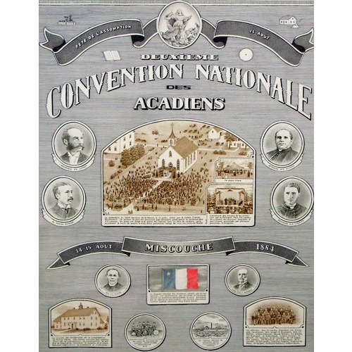 Titre original :  Poster for the second Acadian national convention in Miscouche, 1884
