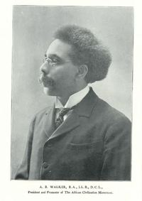 "Original title:  Dr. A.B. Walker, from his book ""A Message to the public"". Image courtesy of Special Collections, Vaughan Memorial Library, Acadia University, Wolfville, Nova Scotia."
