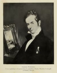 Original title:  Charles Fothergill, from a painting in the possession of a grandson, Charles Theodore Fothergill of Whitby, Ontario. Published in Charles Fothergill (1782-1840) by James Little Baillie, Royal Ontario Museum of Zoology, 1944. https://archive.org/details/charlesfothergil00bail