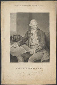 Titre original :  Capt. James Cook from an original painting of Sir Joseph Banks.