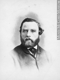 Original title:  Photograph John Shedden, Montreal, QC, 1863 William Notman (1826-1891) 1863, 19th century Silver salts on paper mounted on paper - Albumen process 8.5 x 5.6 cm Purchase from Associated Screen News Ltd. I-9667.1 © McCord Museum Keywords:  male (26812) , Photograph (77678) , portrait (53878)