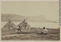 Titre original :  Photograph Making a kayak, Little Whale River, QC, 1874 James Laurence Cotter 1874, 19th century Silver salts on paper mounted on card - Albumen process 10 x 16 cm Gift of Mrs. D. A. Murray MP-0000.391.12 © McCord Museum Keywords:  Ethnology (606) , Inuit (216) , Photograph (77678)