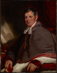 Original title:  The Most Reverend Alexander MacDonell, 1823-24, by Martin Archer Shee.