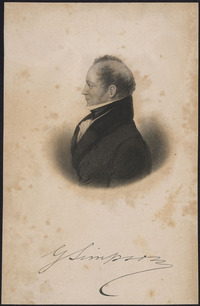 Original title:  Sir George Simpson, Governor of the Hudson's Bay Company, 1857.