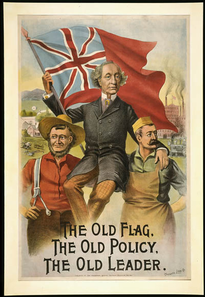 Titre original :  The Old Flag - The Old Policy - The Old Leader [Sir John A. Macdonald] :  1891 electoral campaign
