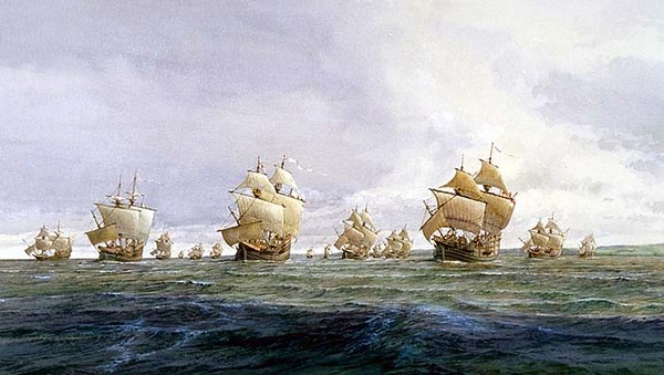 Titre original :  Civilization.ca - Voyages of Martin Frobisher - Ships of the third voyage