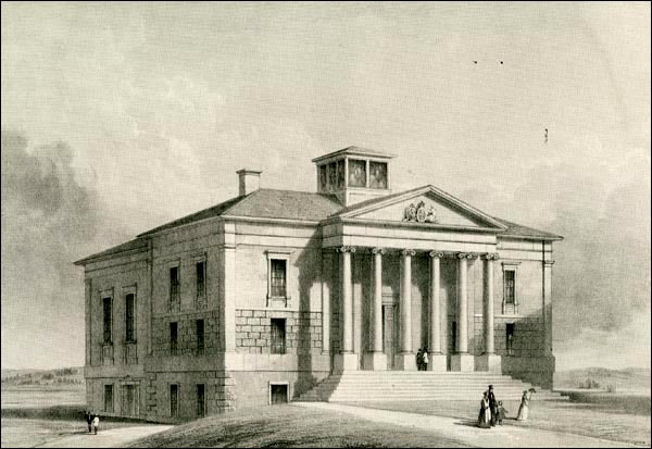 Original title:  Colonial Building, St. John's, 1851